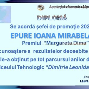 """Read more about the article Premiul """"Margareta Dima"""" 2021"""