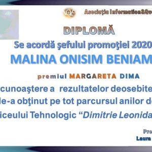 """Premiul """"Margareta Dima"""" 2020"""