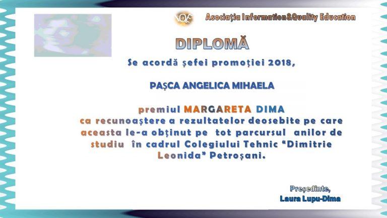 """Premiul """"Margareta Dima"""" 2018"""