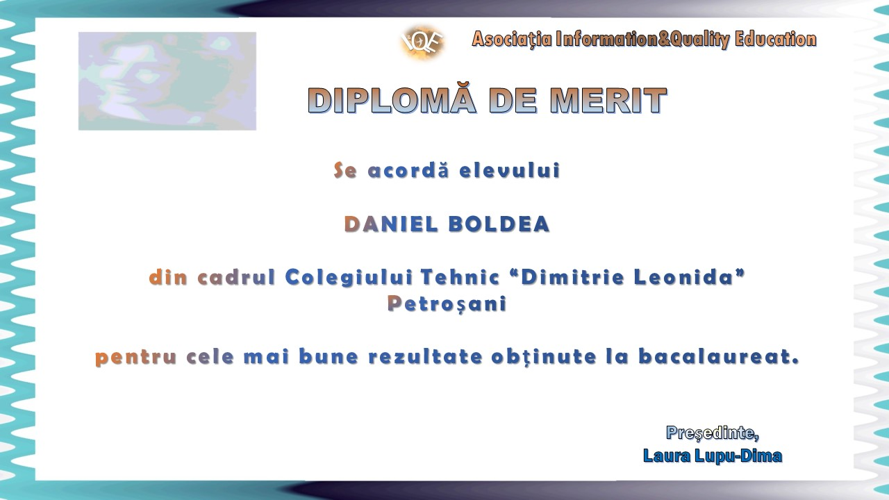 Diploma de merit