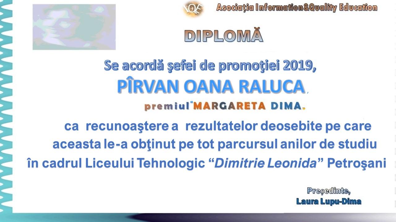 """Premiul """"Margareta Dima"""" 2019"""