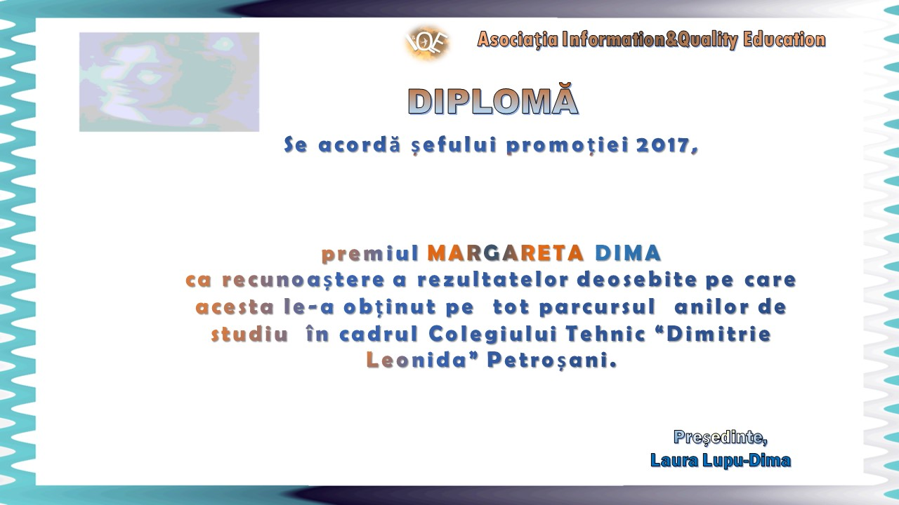 """You are currently viewing Premiul """"Margareta Dima"""" 2017"""