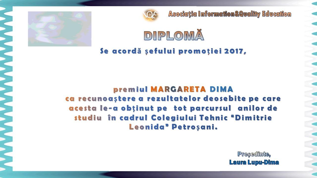 """Premiul """"Margareta Dima"""" 2017"""