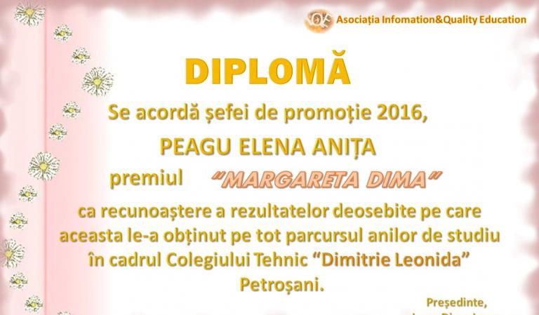 """Premiul """"Margareta Dima"""" 2016"""